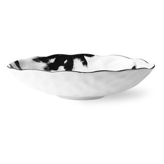 HKliving Home chef ceramics: flat bowl purple - Copy