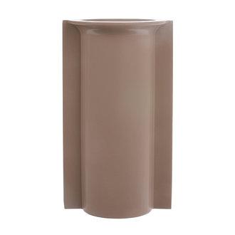 HKliving Mold shape flower vase L matt mocha