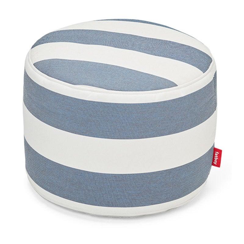 Fatboy-collectie Point outdoor poef stripe ocean blauw
