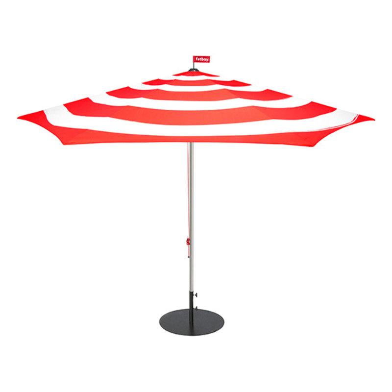 Fatboy-collectie Parasol Stripesol Ø350 cm rood incl. base antraciet