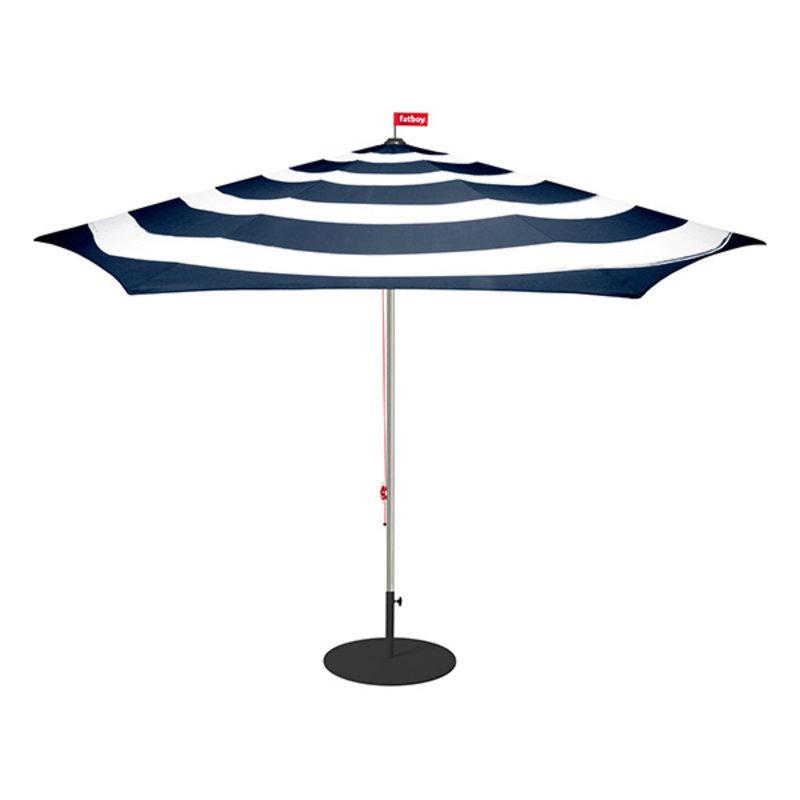 Fatboy-collectie Parasol Stripesol Ø350 cm donkerblauw incl. base antraciet