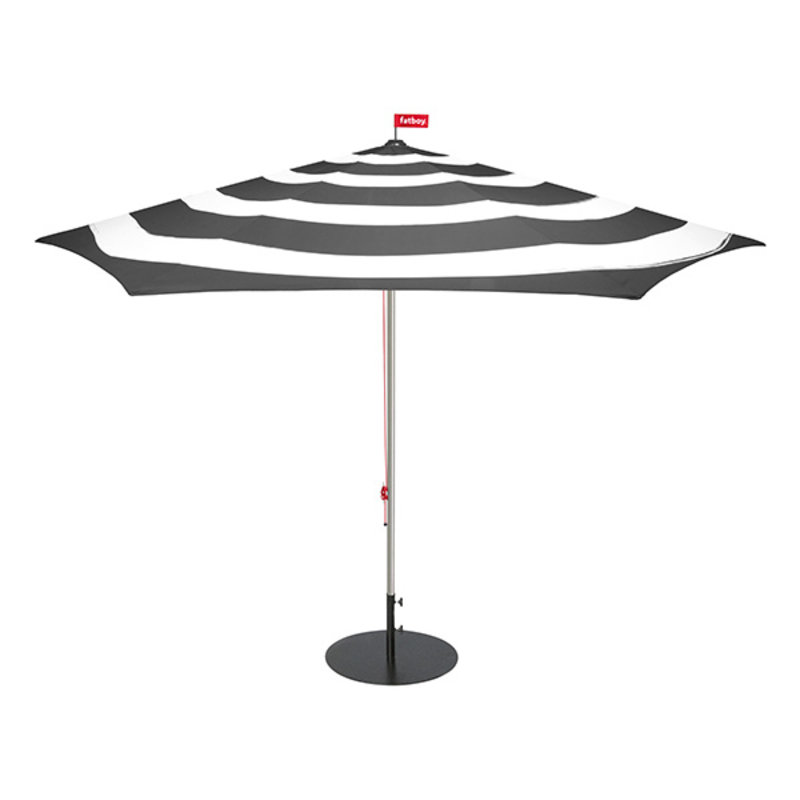 Fatboy-collectie Parasol Stripesol antraciet Ø350 cm incl. base antraciet