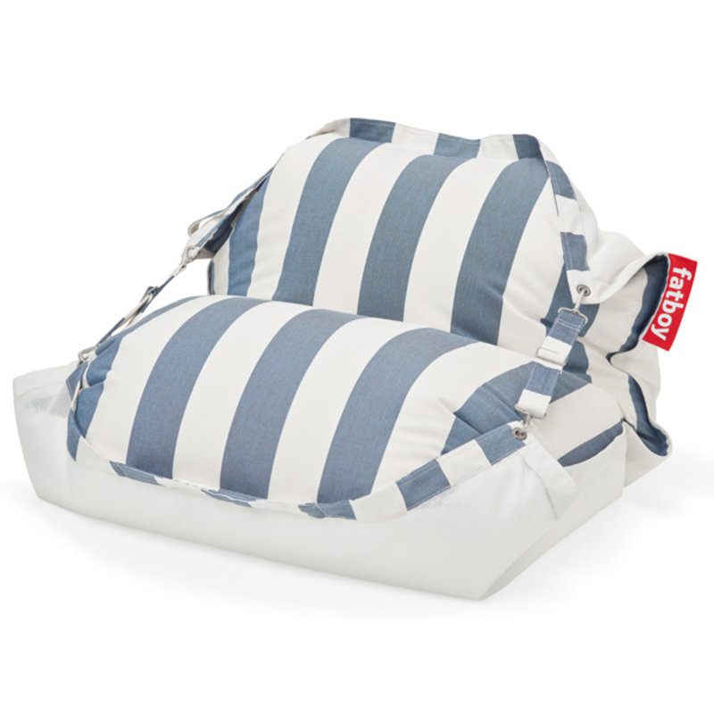 Fatboy-collectie Original Floatzac drijvende waterzitzak stripe Ocean blue