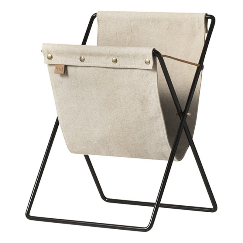 ferm LIVING-collectie Laundry basket on stand Herman