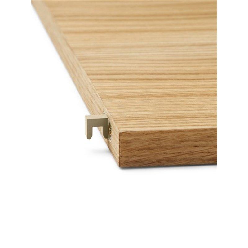ferm LIVING-collectie Punctual shelving system houten plank natural oak/cashmere