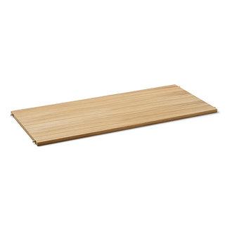 ferm LIVING Punctual shelving system houten plank naturel oak/cashmere