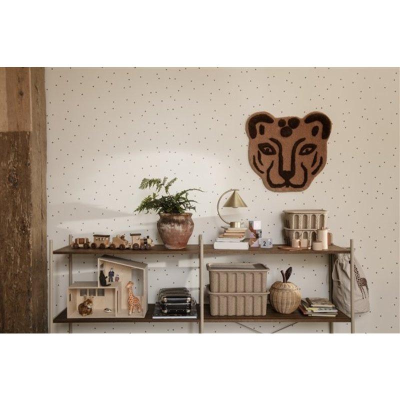 ferm LIVING-collectie Punctual shelving system houten plank oak/cashmere