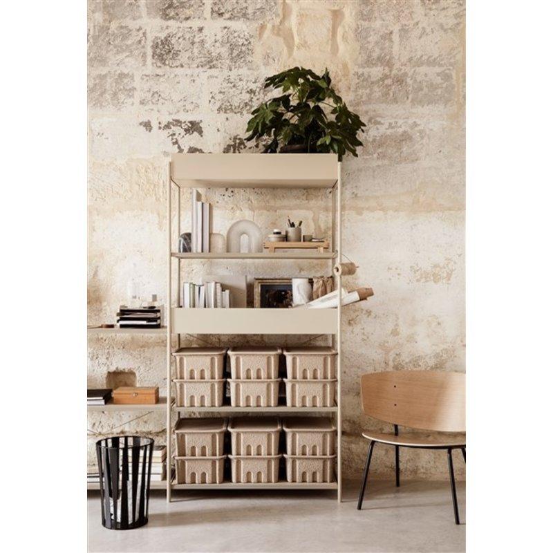 ferm LIVING-collectie Punctual shelving system metal box cashmere