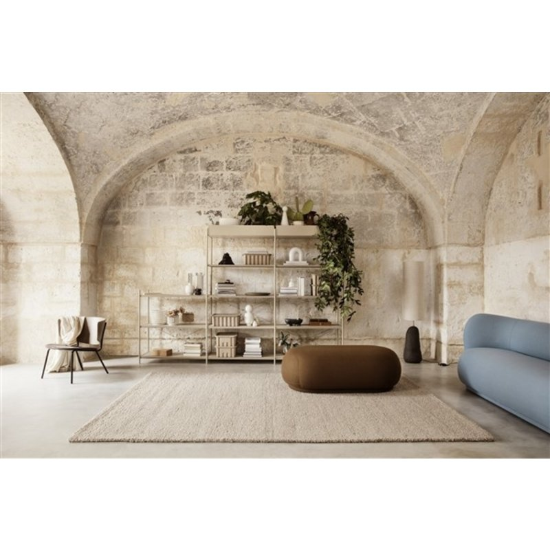 ferm LIVING-collectie Punctual shelving system perforated metal shelf cashmere
