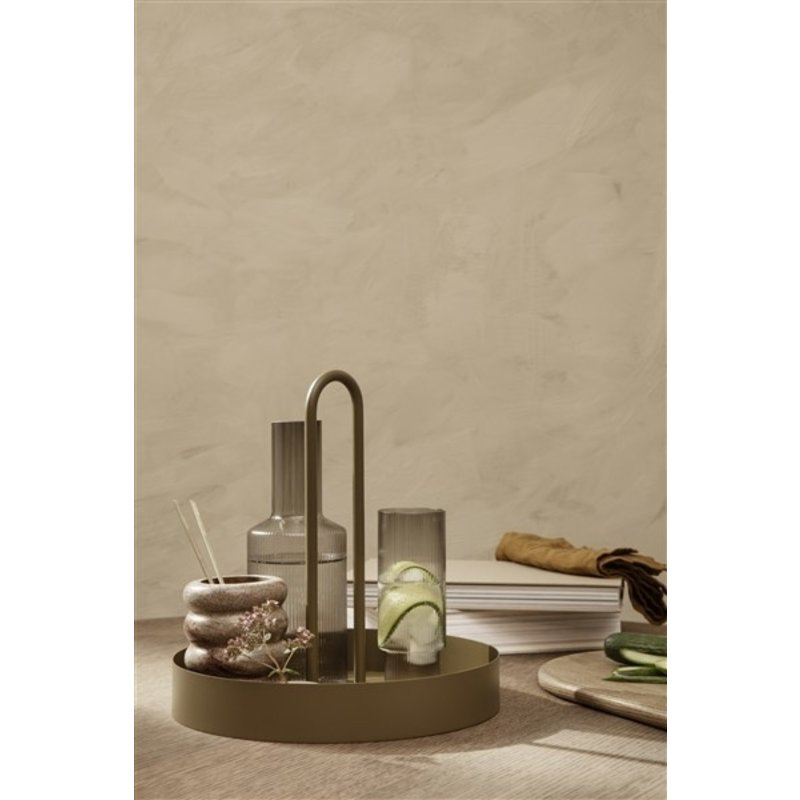 ferm LIVING-collectie Grib Tray - Olive