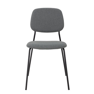 Bloomingville Corte Dining Chair Grey Polyester