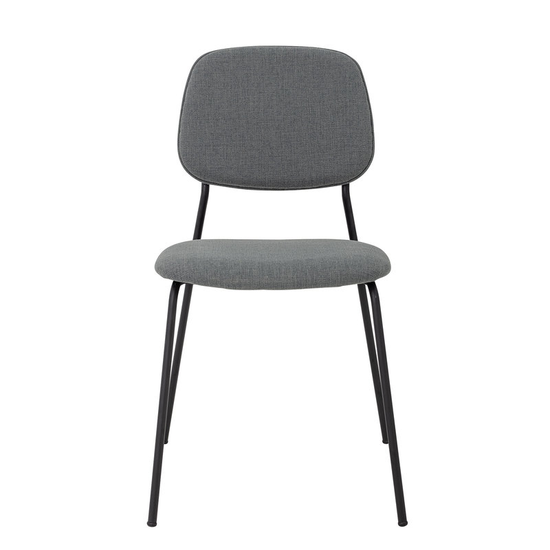 Bloomingville-collectie Corte Dining Chair Grey Polyester