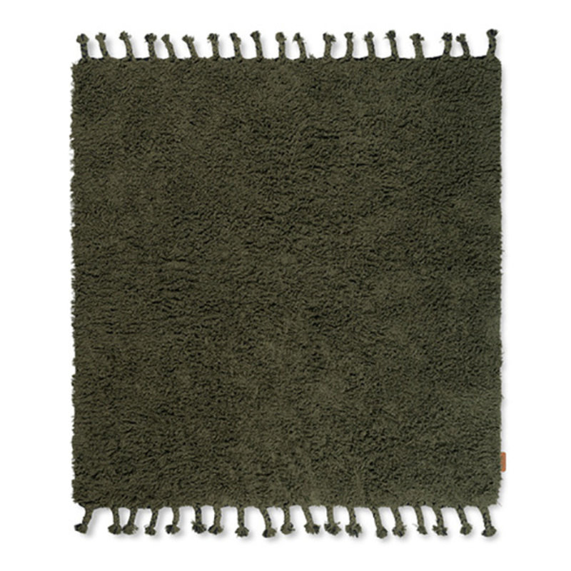 ferm LIVING-collectie Amass Long Pile Rug - Olive