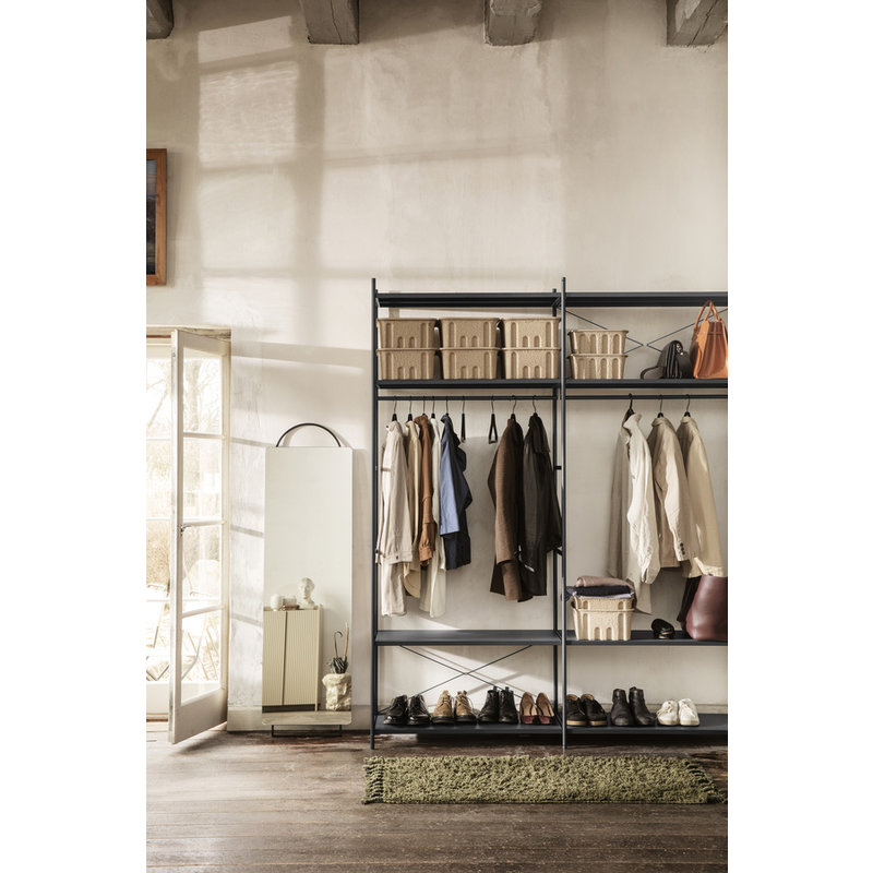 ferm LIVING-collectie Amass Long Pile Runner - Olive