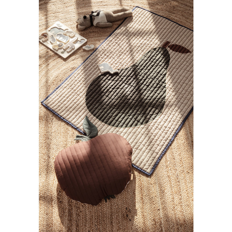ferm LIVING-collectie Apple Quilted Cushion - Cinnamon