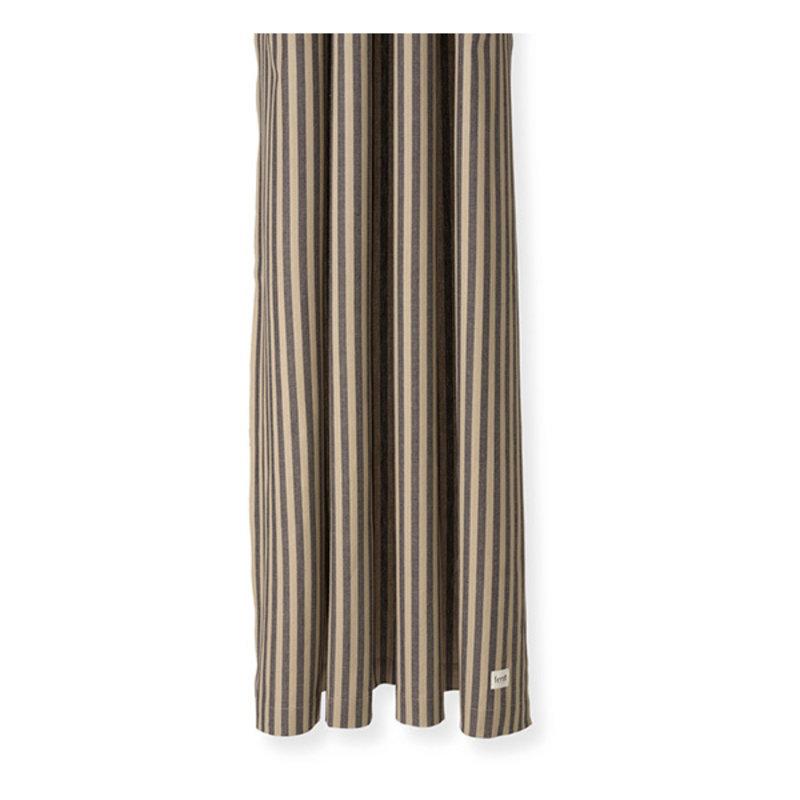 ferm LIVING-collectie Chambray douchegordijn zand - zwart streep