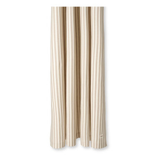 ferm LIVING Chambray douchegordijn zand- off white streep