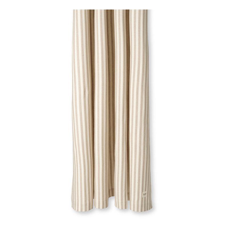 ferm LIVING-collectie Chambray douchegordijn zand- off white streep