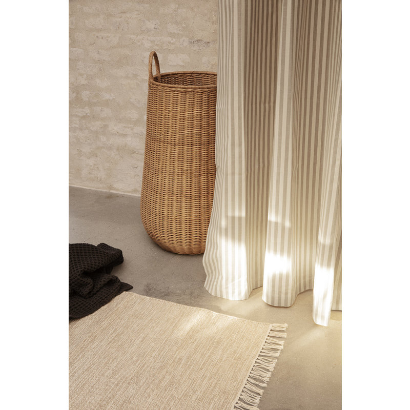 ferm LIVING-collectie Chambray Shower Curtain - Sand/Off-white