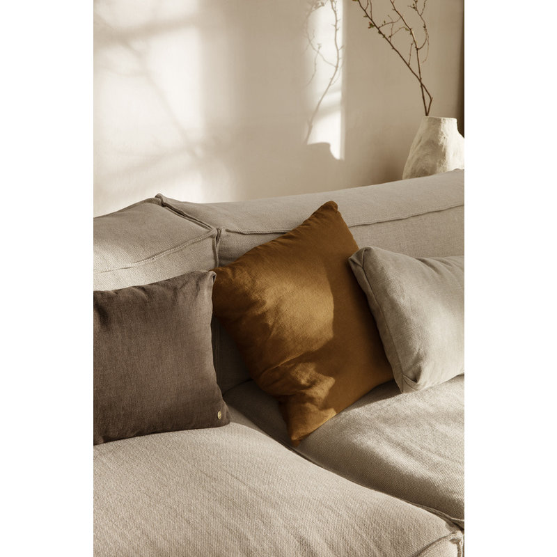 ferm LIVING-collectie Clean Cushion Rect Hot M - Chocolate