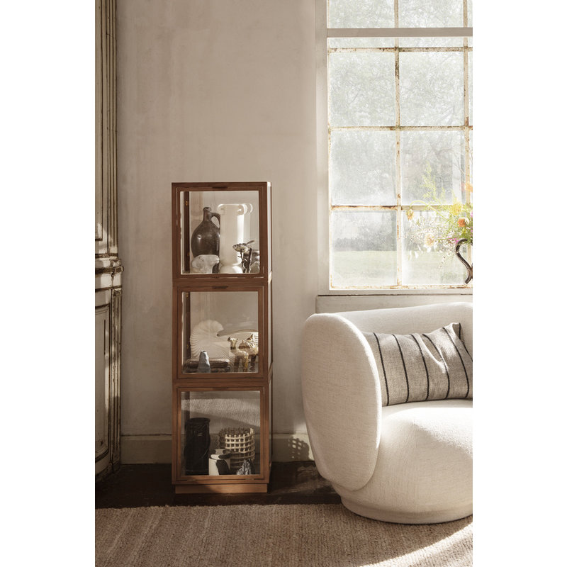 ferm LIVING-collectie Clean Cushion Rect Pasadena - Sand/Black