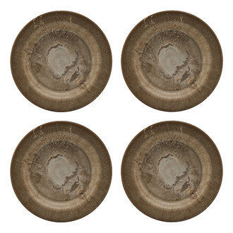 House Doctor Plate, Serveur, Gold, 4 pcs/pack