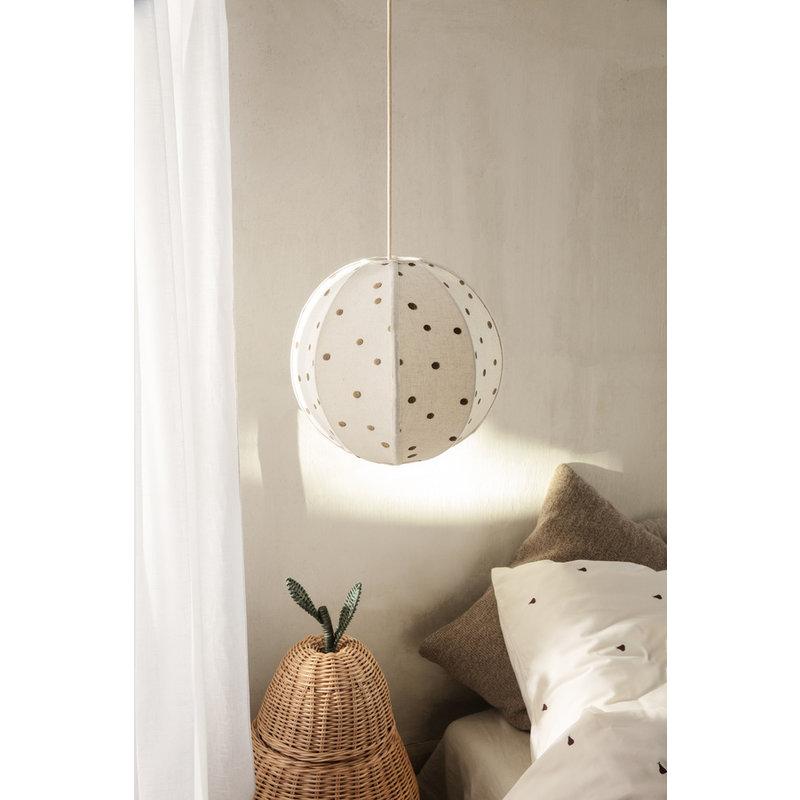 ferm LIVING-collectie Dots Embr. Textile Lampshade