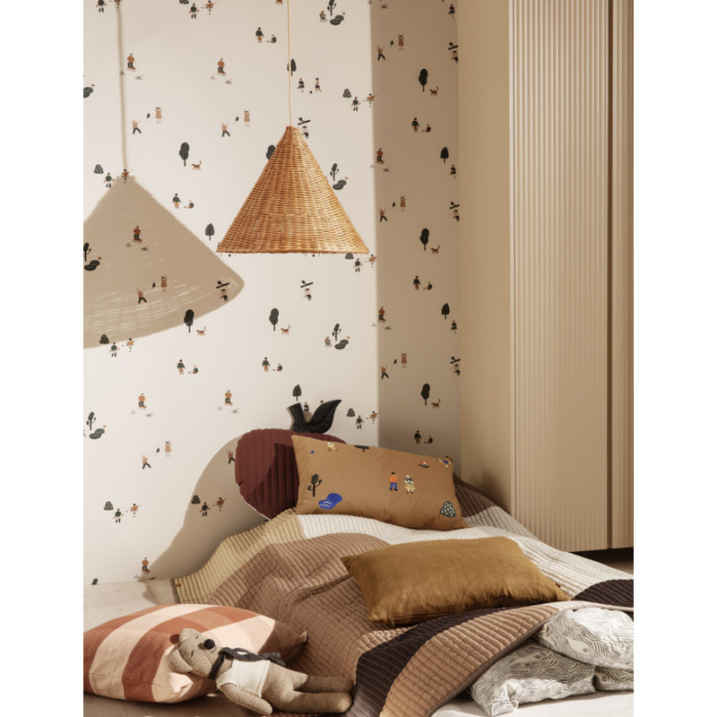 ferm LIVING-collectie Dou Lampshade - Ø45 - Natural