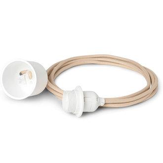 ferm LIVING Fabric cord set 2m - Pendant - Sand