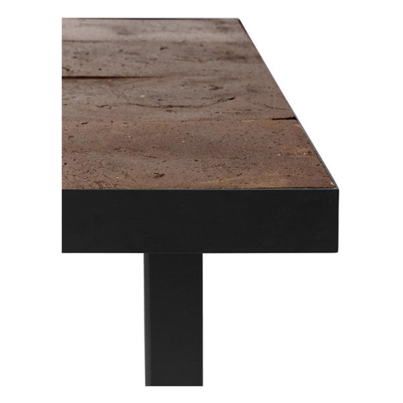 ferm LIVING-collectie Café tafel Flod Tiles Moka/Black