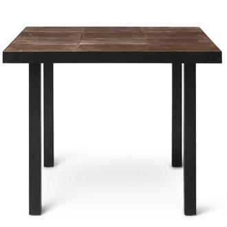 ferm LIVING Flod Tiles Café Table-Moka/Black