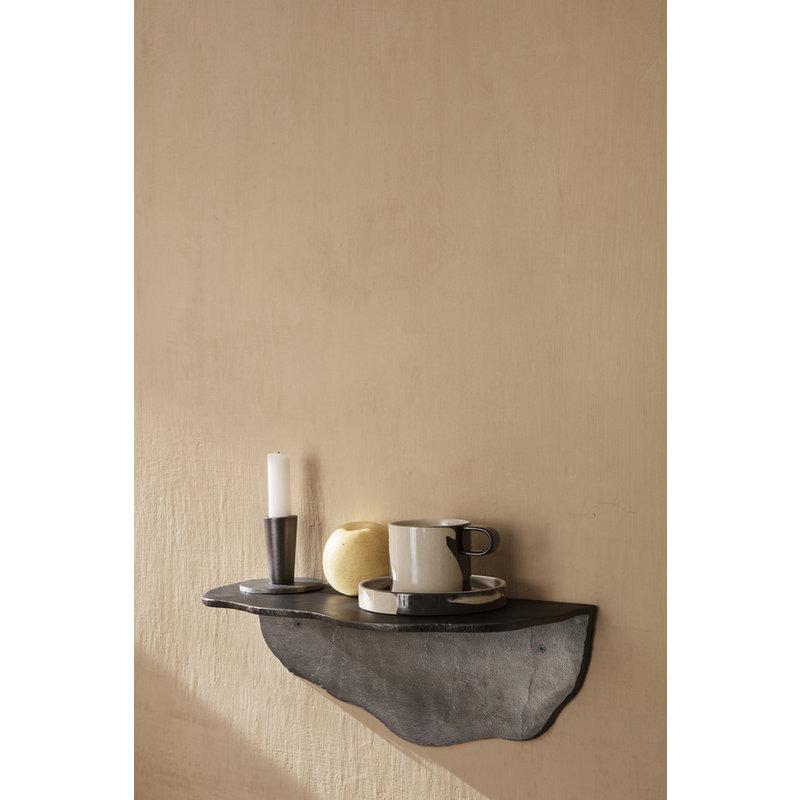 ferm LIVING-collectie Fracture Shelf - Blackened Aluminium
