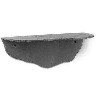 ferm LIVING Wandplank Fracture zwart aluminium