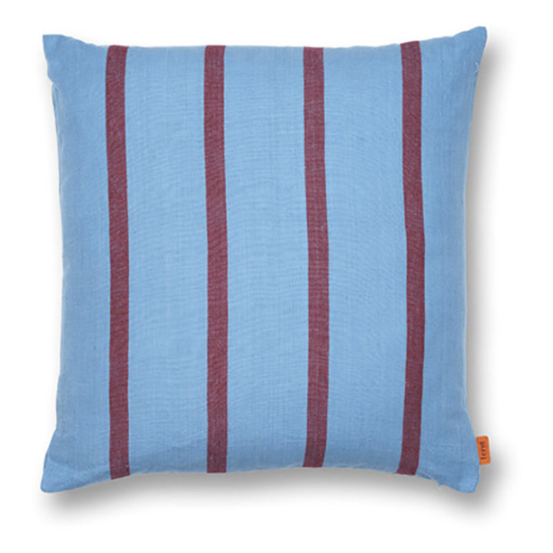 ferm LIVING-collectie Grand Cushion - Faded Blue/Burgundy