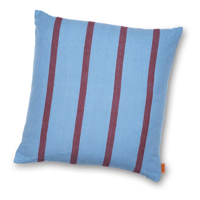 ferm LIVING-collectie Kussen Grand Faded Blue/Burgundy