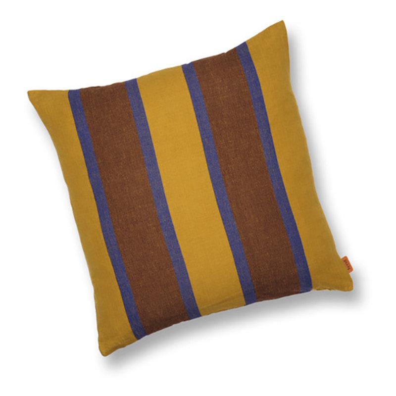 ferm LIVING-collectie Grand Cushion - Lime/Bright Blue/Choco