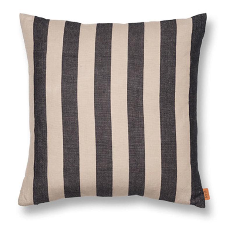 ferm LIVING-collectie Grand Cushion - Sand/Black