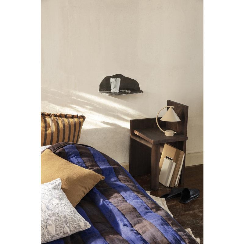 ferm LIVING-collectie Quilt deken Grand Choco/Bright Blue 120x170