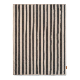 ferm LIVING Grand Quilted Blanket - Sand/Black