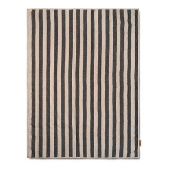 ferm LIVING Quilt deken Zand/Zwart 120x170