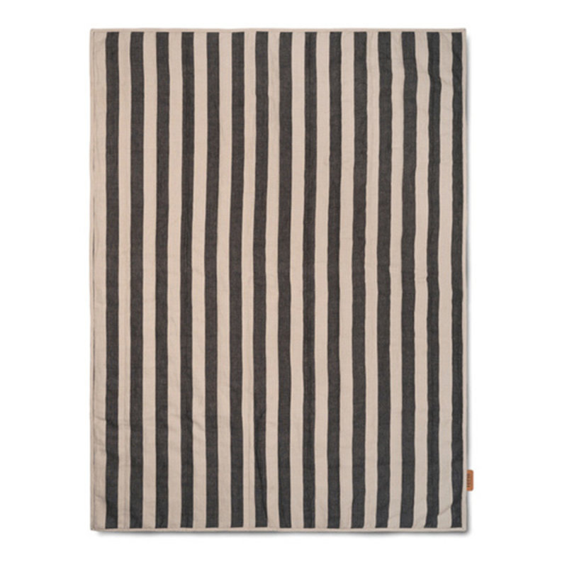 ferm LIVING-collectie Quilt deken Zand/Zwart 120x170
