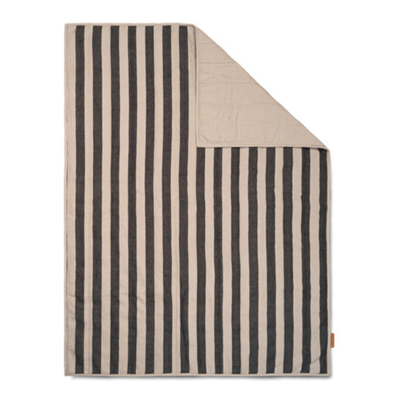 ferm LIVING-collectie Grand Quilted Blanket - Sand/Black