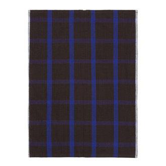 ferm LIVING Hale Tea Towel - Chocolate/Bright Blue