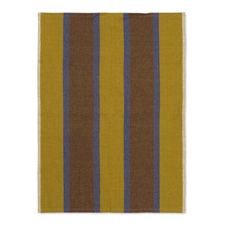 ferm LIVING Hale Tea Towel - Lime/Bright Blue/Choco