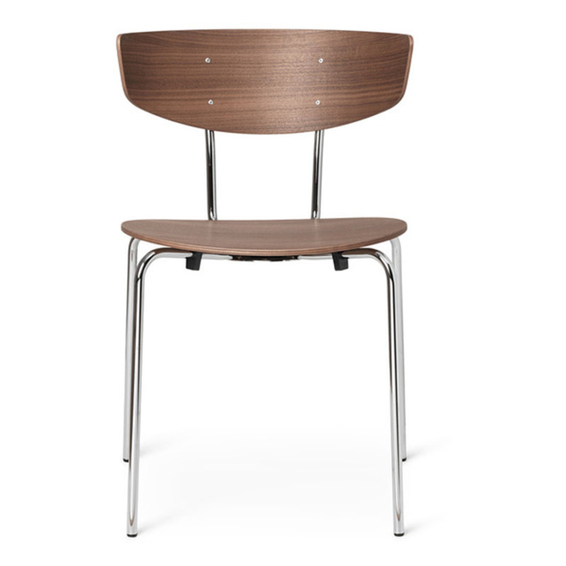 ferm LIVING-collectie Herman Dining Chair Chrome - Walnut