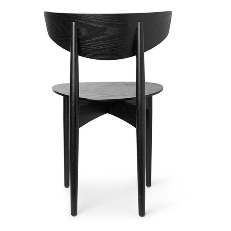 ferm LIVING-collectie Eetkamerstoel Herman Dining hout zwart