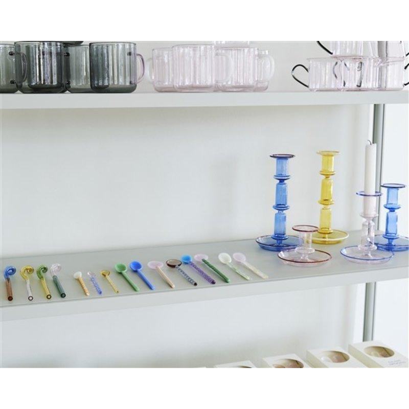 HAY-collectie Glazen lepels 12 cm - set van 3