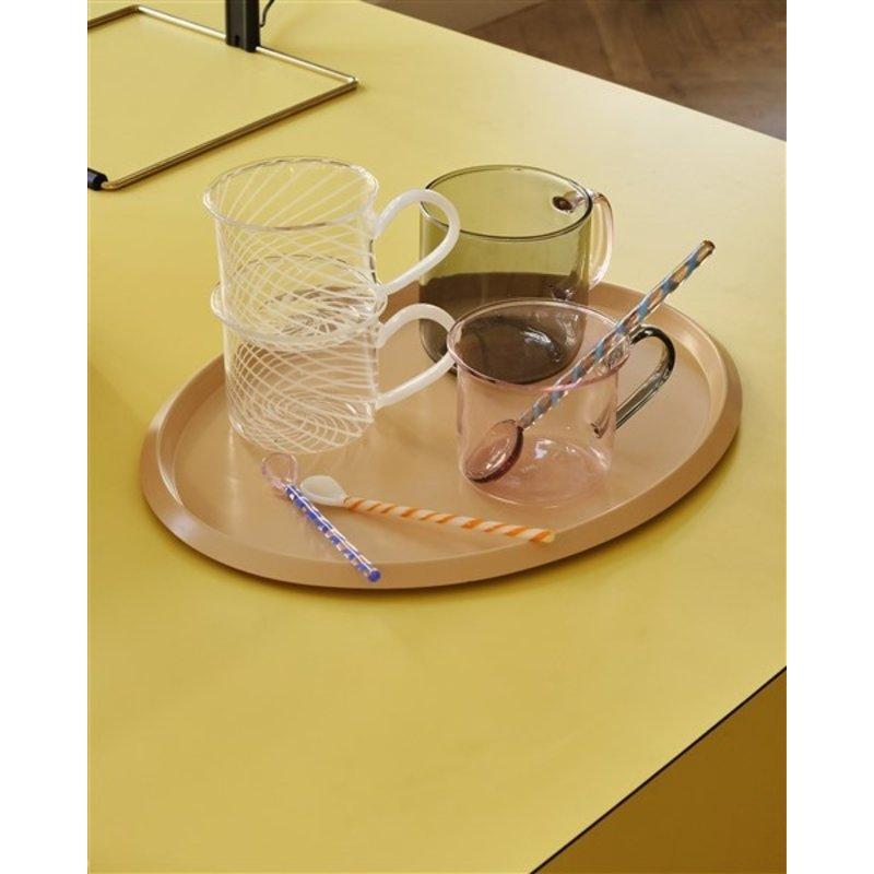 HAY-collectie Glazen lepels 15 cm - set van 2