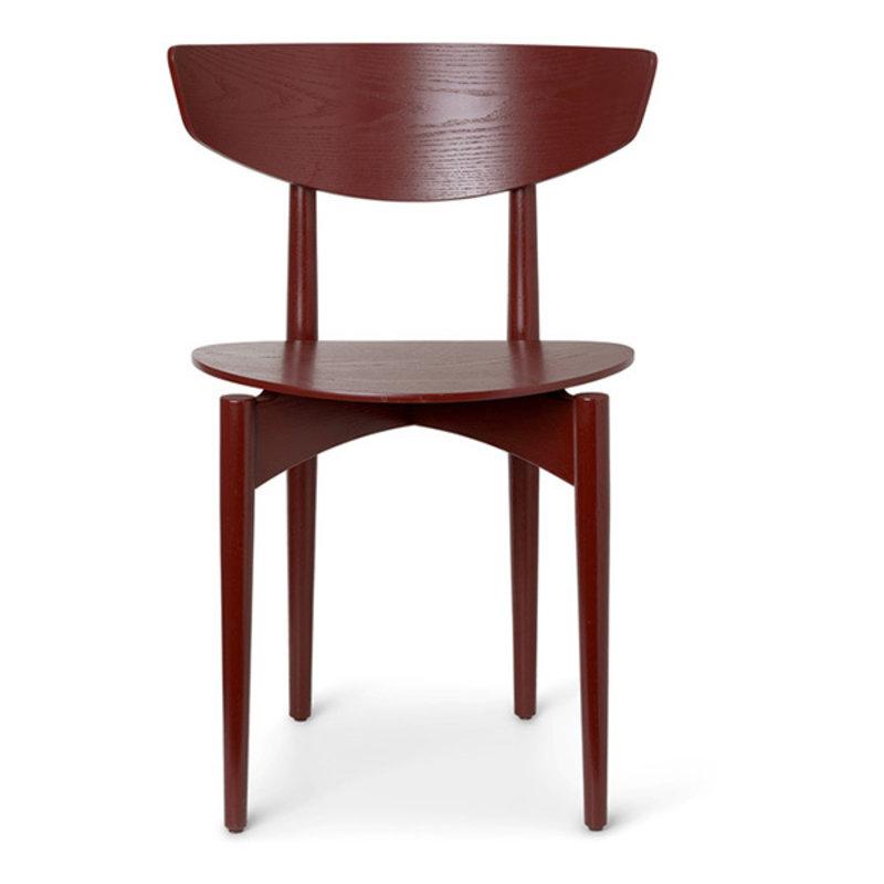 ferm LIVING-collectie Eetkamerstoel Herman Dining hout roodbruin