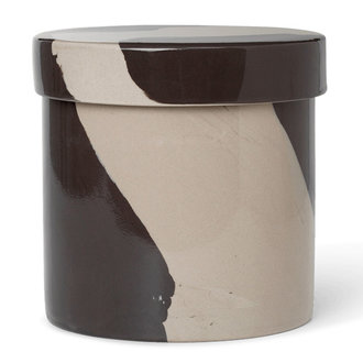 ferm LIVING Inlay Container - Large - Sand/Black